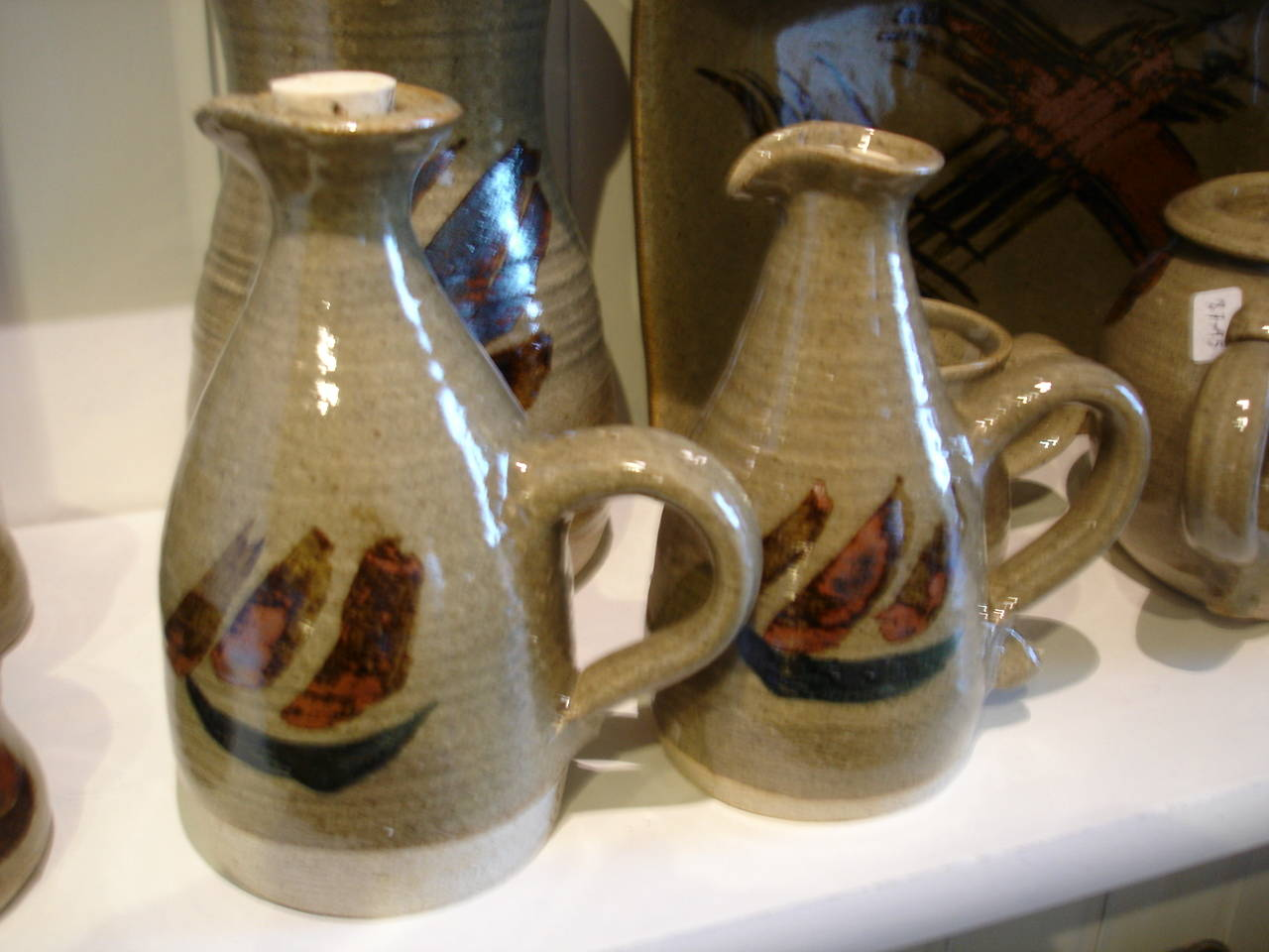 alan-gaillard-irish-pottery-connemara-stoneware-group-oil-and-vinegar-bottles-hooker-range