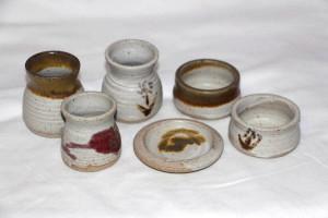 Alan-gaillard-irish-pottery-connemara-stoneware-egg-cups-pate-pots-small-butter-dishes-misc