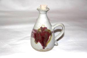 Alan-gaillard-irish-pottery-connemara-stoneware-oil-bottle-copper-red-misc