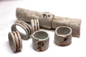 Alan-gaillard-irish-pottery-connemara-stoneware-serviette-rings-misc