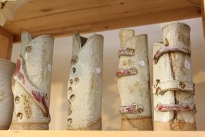 alan-gaillard-irish-pottery-connemara-stoneware-Slab vases in copper