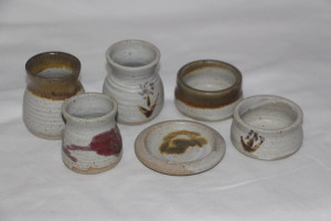 alan-gaillard-irish-pottery-connemara-stoneware-egg-cups-pate-pots-small-butter-dishes