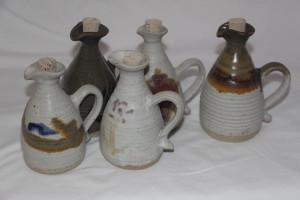 alan-gaillard-irish-pottery-connemara-stoneware-oil-and-vinegar-bottles