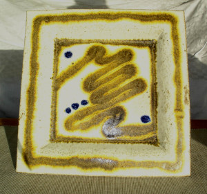 alan-gaillard-irish-pottery-connemara-stoneware-30cm sq-serving-platter