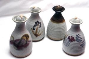 alan-gaillard-irish-pottery-connemara-stoneware-Oil lamps