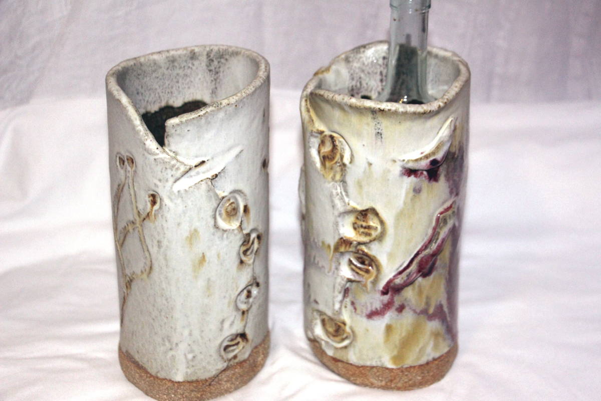 alan-gaillard-irish-pottery-connemara-stoneware-wine-coolers-vases